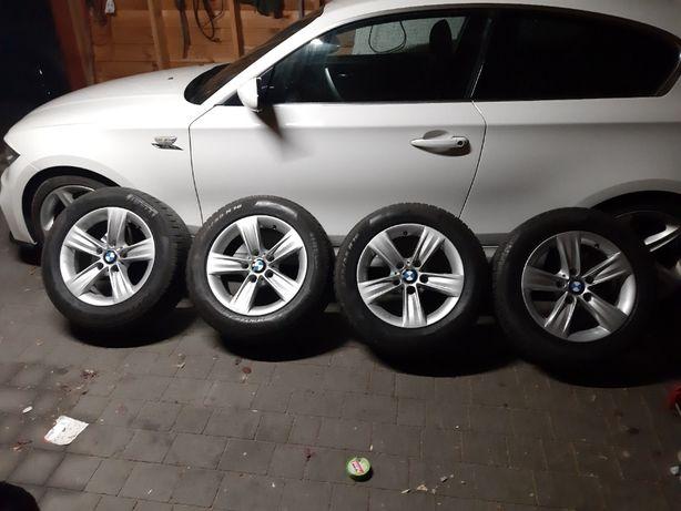koła zimowe bmw 5x120 pirelli 225,55,16 e87 f10 f11 f30 f31 f10 7-8 mm
