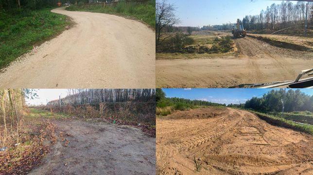 Drogi dojazdowe Budowa dróg Utwardzenie terenu wykopy wycinka drzew