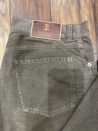 Вельветовые брюки Brunello Cucinelli oригинал размер 48