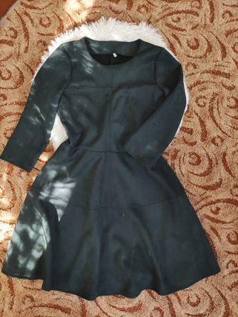 Замшевое платье.