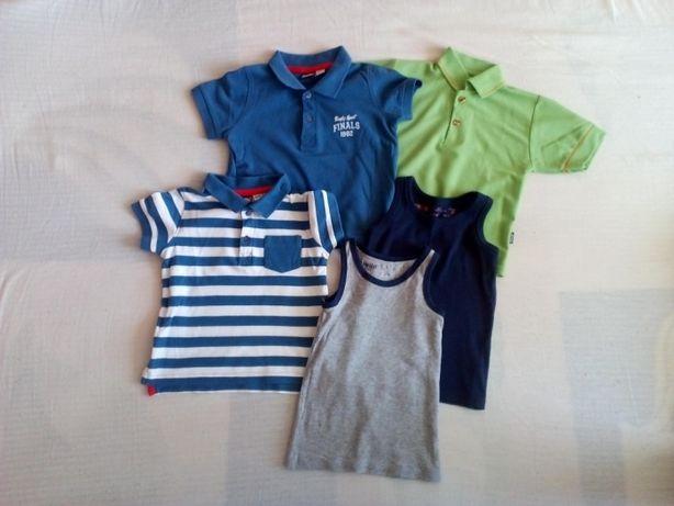 Bluzki, koszulki polo - cena za calosc (podkoszulki sprzedane)