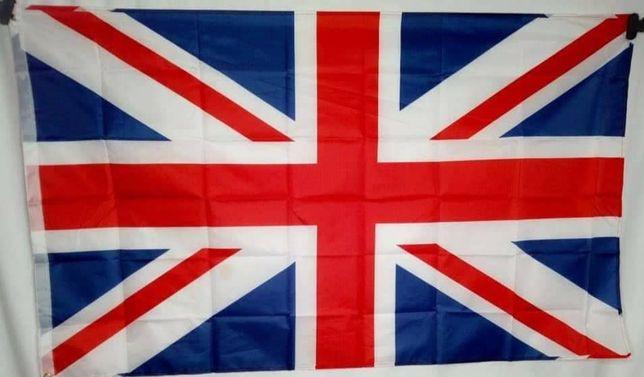Флаг Великобритании 90х150см с полосой для крепления