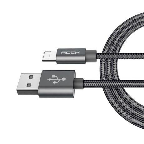 ORYGINALNY Kabel ROCK USB iPhone 5 SE 6S 7 100 cm