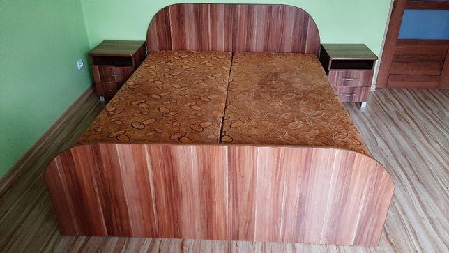 Łóżko sypialniane sypialnia z szafkami nocnymi 160x200 cm