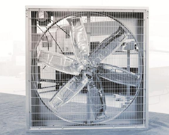 Wentylator z żaluzją - wyciągowy - 140x140cm - DUŻY - Ferma drobiu