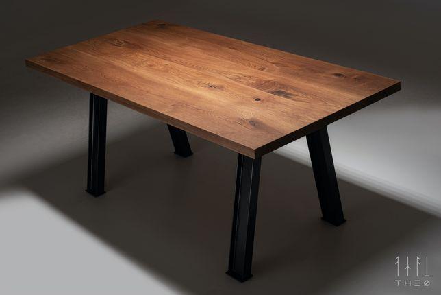 Stół dębowy EDGE 200x100cm, loft, industrial. PIĘKNY!