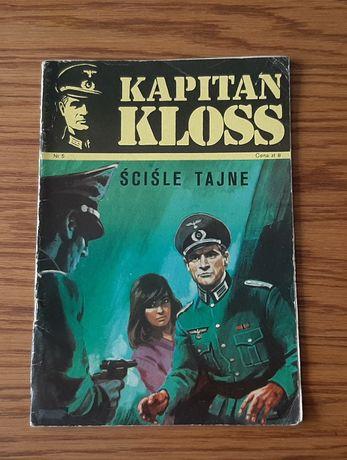 """Komiks Kapitan Kloss """" Ściśle tajne"""" nr 5 wyd. I z 1971 roku"""