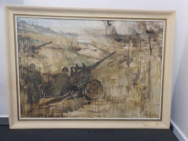 Obraz olejny historyczny na płótnie Bronisława Wilimowska 70 x 100 cm