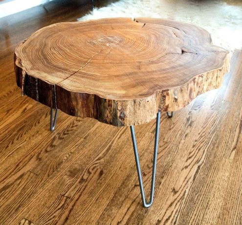 Mesas de centro ou jantar em rodela de madeira maciça