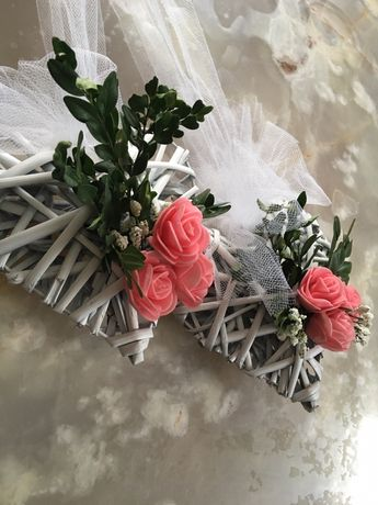 Ozdoba weselna ślub na drzwi dekoracje slubne