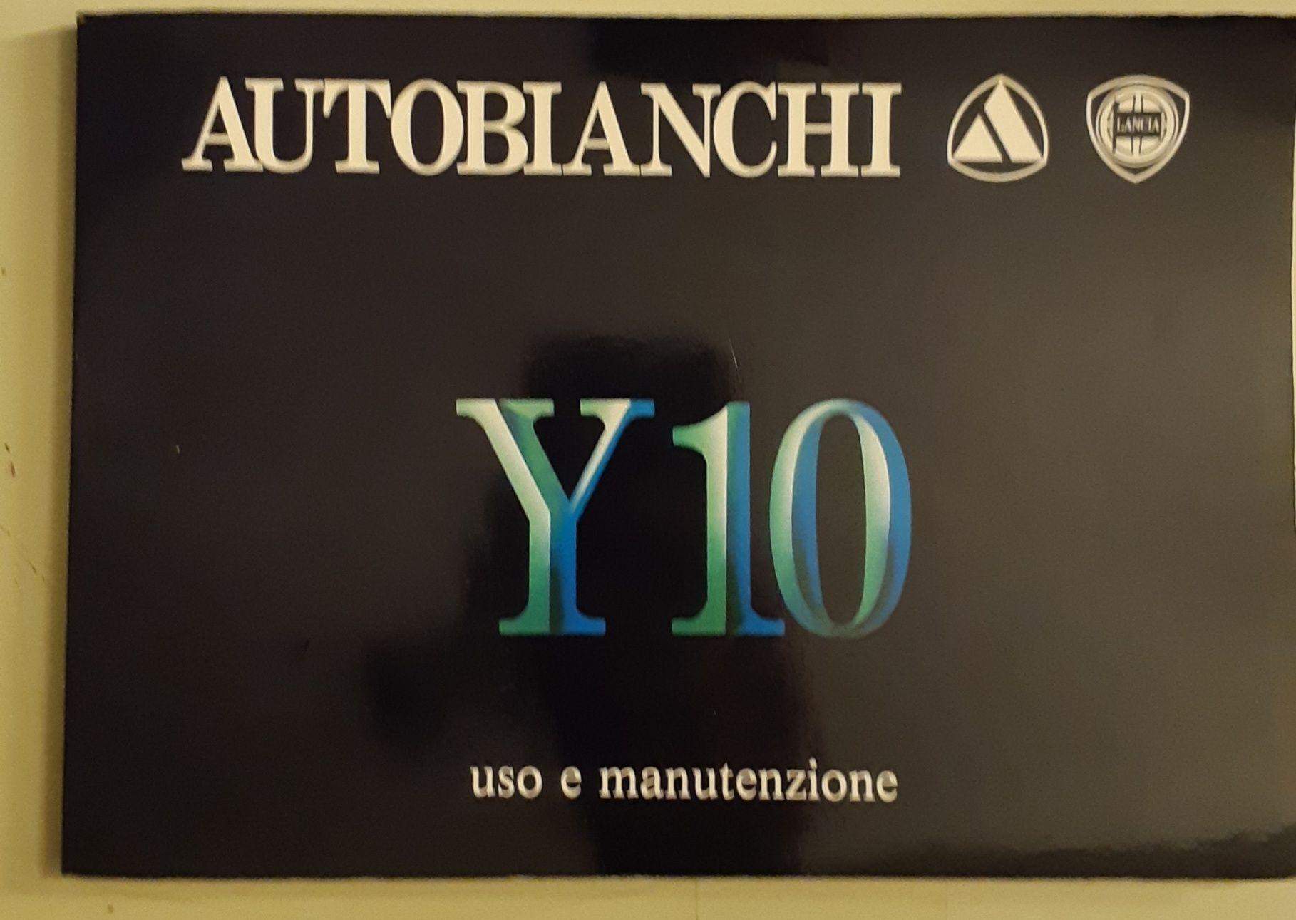 Autobianchi Y10 Manuale do utilizador