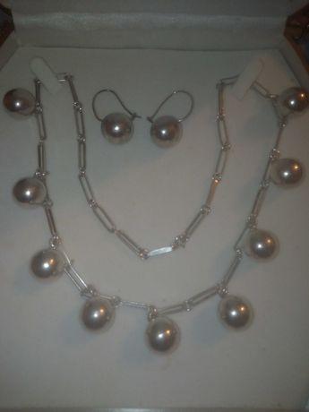 Srebrny naszyjnik z kolczykami