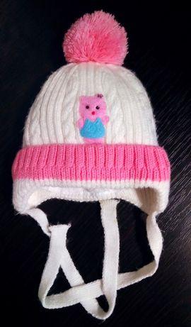 Зимняя шапка на 3-6-9 мес.44 см объем