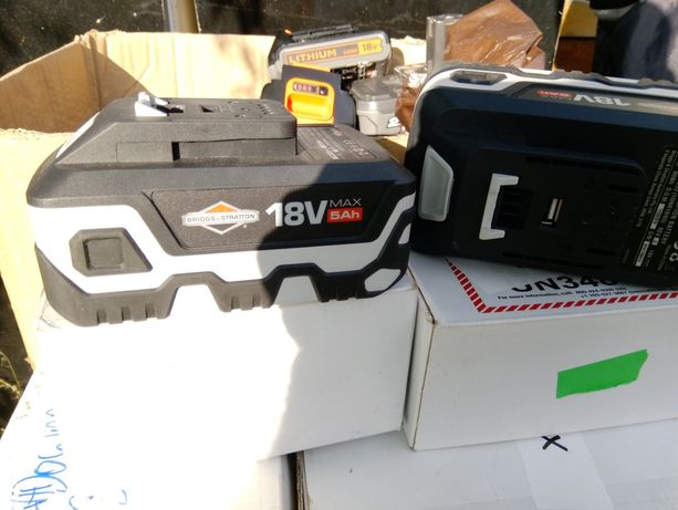 Akumulator li-ion Briggs Stratom,Makita,Bosch,Dewalt,ryobi, Nowe