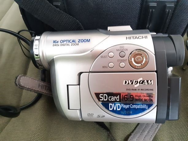 Kamera kamerka Hitachi z ładowarką i torbą