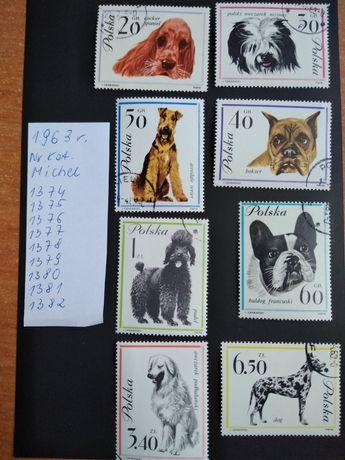 Znaczki pocztowe Polska 1963r seria