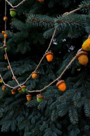 Новогодний декор, эксклюзивно! Гирлянда, декор из жолудей