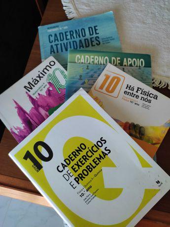 Cadernos de atividades escolares 10º ano
