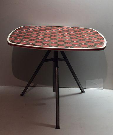 Stary składany stolik campingowy PRL industrial RETRO vintage