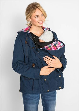 zimowa ocieplana kurtka ciążowa r 50 lub 40