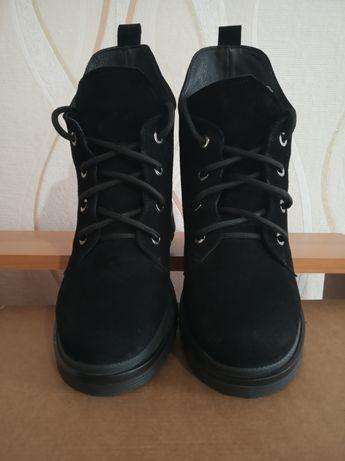 Зимние замшевые ботинки, сапоги