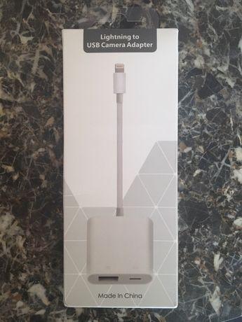 Lightning para USB e carregamento bateria simultâneo/Camera Adapter