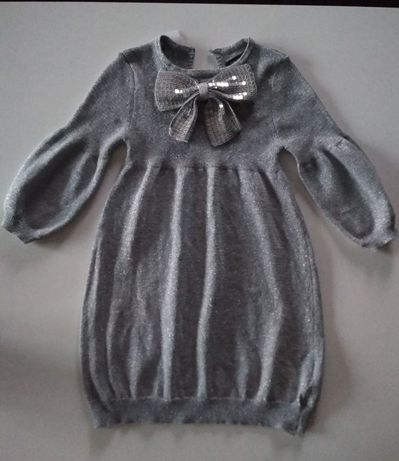 Sukienka srebrna 83 cm