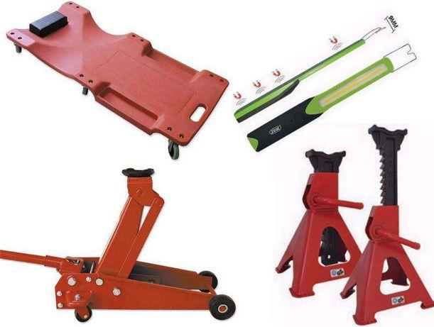 Kit com 2 cavaletes+macaco rodas 3,5 Ton+estrado+lanterna JBM