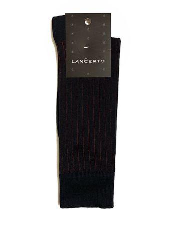 Skarpety Lancerto czarne w czerowone paski