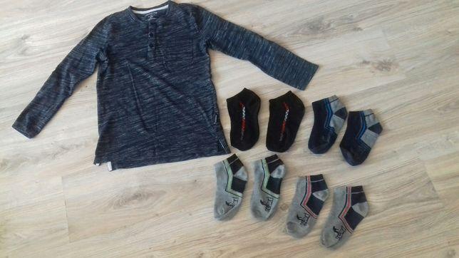 T-shirt chłopięcy Reserved 134, skarpety, skarpetki chłopięce 31-34