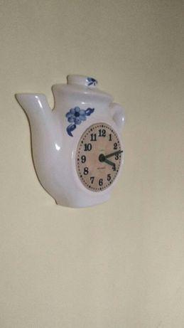 Zegar ścienny porcelanowy