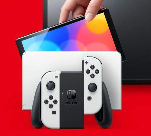 Nintendo switch OLED biala