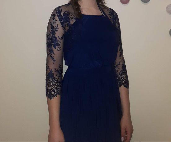 Piękna wieczorowa sukienka z Missguided + gipiurowe bolerko!