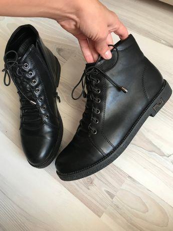 ботинки женские черные осень 40 черевики жіночі нові