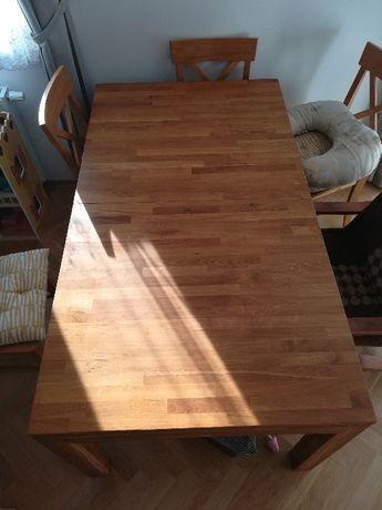 Stół rozkładany dębowy 160x90