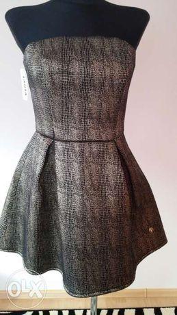 Sukienka-czarno-złota