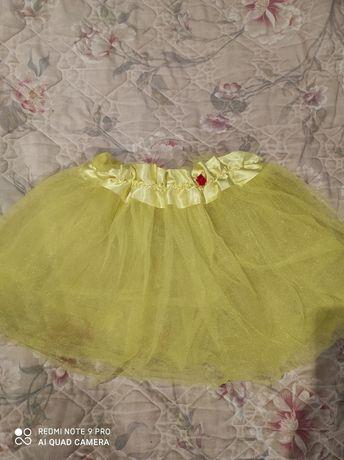 Фатиновая яркая юбка на девочку на танцы, утренник