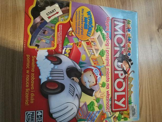 Gra Moje pierwsze Monopoly z autkiem