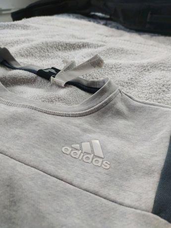 Adidas crewneck vintage retro szary 36 S unisex bluza sportowa