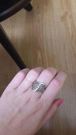Pierścionek srebrny #koszyczek #koszyk