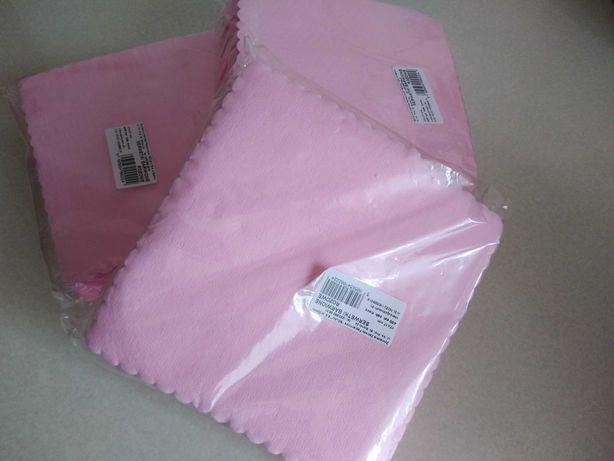 Serwetki ząbkowane różowe 400 szt