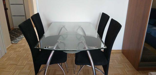 Stół szklany + 4 krzesła