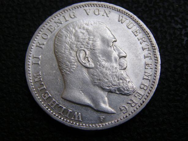 3 марки 1914 F Вюртемберг