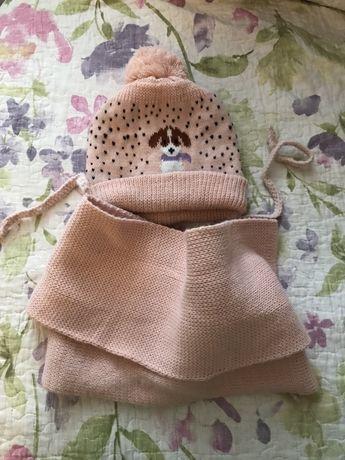 Набор шапка шарф 2-4 года