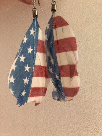 Kolczyki piórka USA