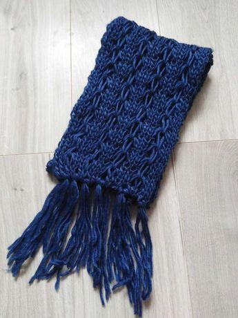 Nowy szalik niebiesko- granatowy