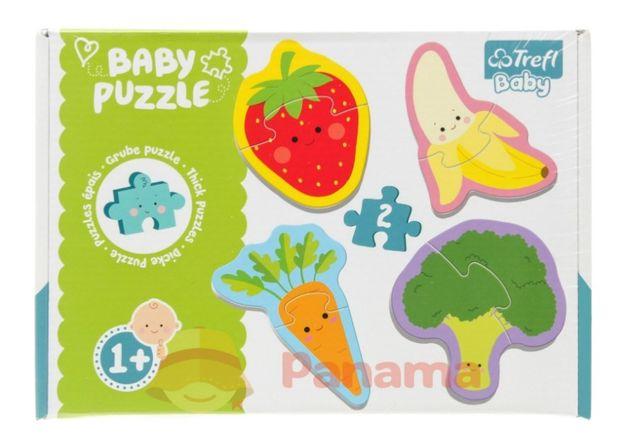 Пазлы Trefl для малышей овощи фрукты Польша