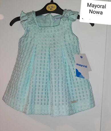 Nowa sukienka Mayoral 68 cm