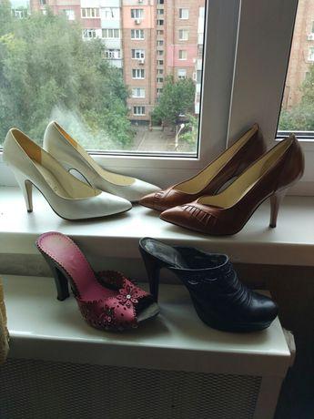 Распродажа. Туфли, сабо, шлёпанцы, босоножки. Кожа, на 37 размер