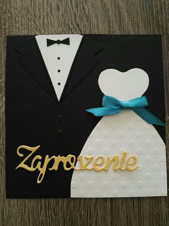 Zaproszenia ślubne, ręcznie robione